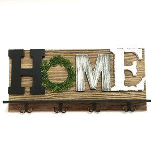 HOME Wooden Shelf Key Shelf NWT